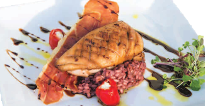 Duck with Pancetta Risotto