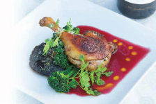 Duck with Raspberry Cassis Sauce