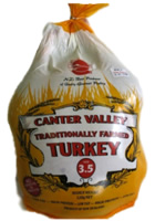 Traditionally farmed turkey